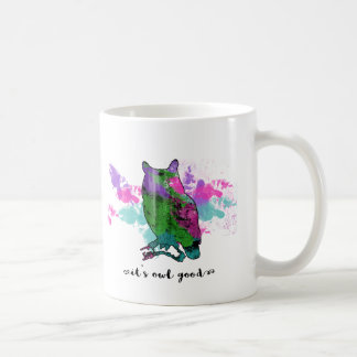 Color Spirit Animal Owl Mug | Wisdom, Vision, Wise