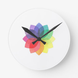 Color Spirograph Clocks