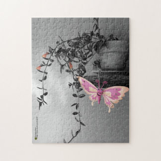 Color Splash Butterfly Still Life Photograph Jigsaw Puzzle