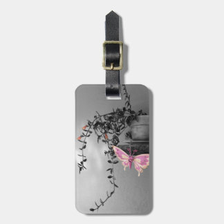 Color Splash Butterfly Still Life Photograph Luggage Tag