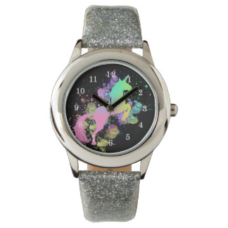 Color Splash Fantasy Rainbow Unicorn Watch