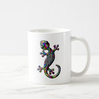 Color Splash Paisly Climbing Gecko Lizard Coffee Mug