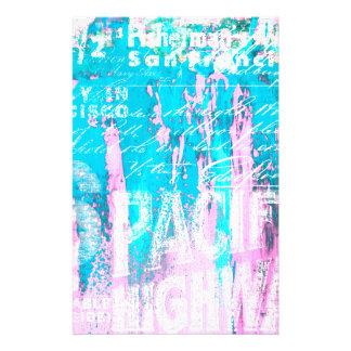 Color Splash Typo Personalised Stationery
