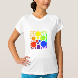 Color Square Tee Shirt - Women