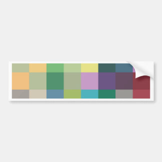 color squares background abstract geometric patter bumper sticker