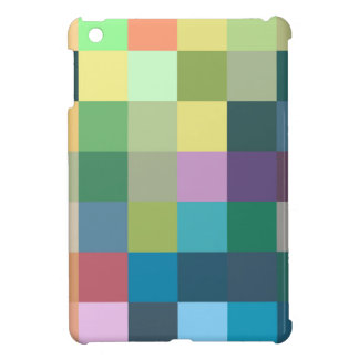 color squares background abstract geometric patter iPad mini cases