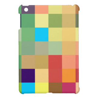 color squares background abstract geometric patter iPad mini cover