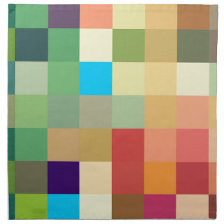 color squares background abstract geometric patter napkin