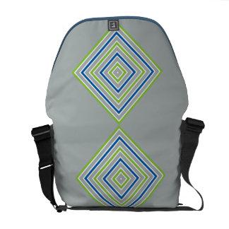 COLOR SQUARES custom messenger bag