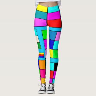 Color Squares Leggings