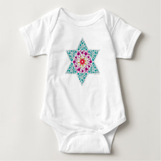 Color Star of David Magen David Baby Bodysuit