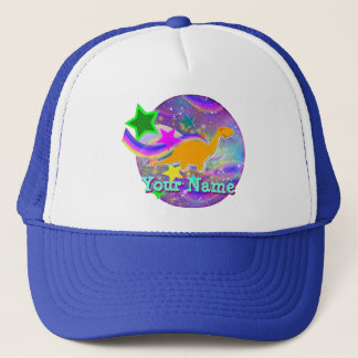 Color Stars & Swirls Cool Dinosaur Cap