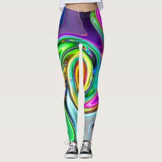 Color Storm Swirls Leggings
