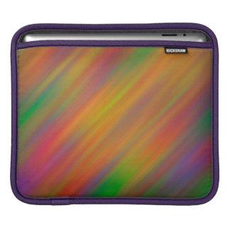 Color Streaks Pattern iPad Sleeve