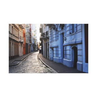 Color Streets of Old San Juan Canvas Print