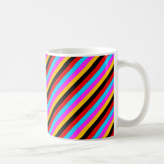 Color Stripe 01 Basic White Mug