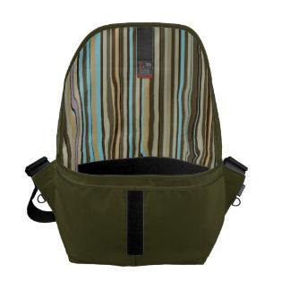 Color Striped Lining Man's Commuter Commuter Bag
