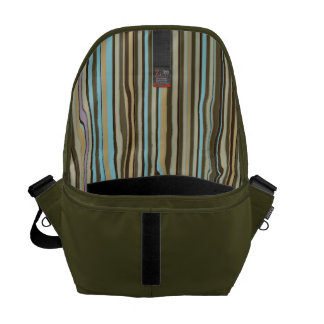 Color Striped Lining Man's Commuter Commuter Bags