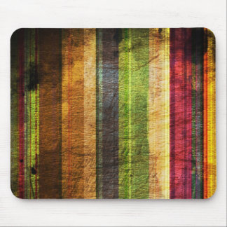 color stripes on wood pattern mouse pad