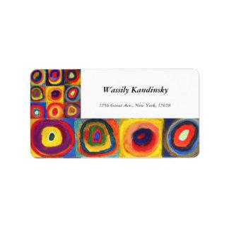 Color Study by Wassily Kandinsky Address Label