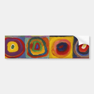Color Study of Squares Circles Bumper Sticker