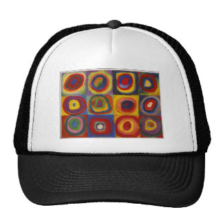 Color Study: Squares with Concentric Circles Trucker Hat