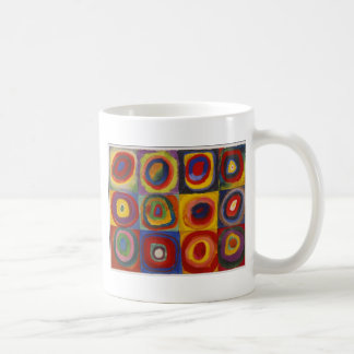 Color Study: Squares with Concentric Circles Mugs