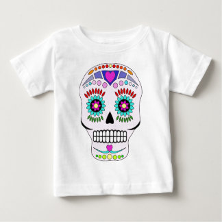 Color Sugar Skull Baby T-Shirt