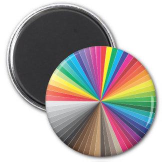 color swatches circle fridge magnet