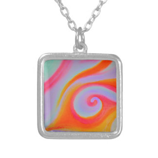 Color Swirl Painting Personalized Necklace