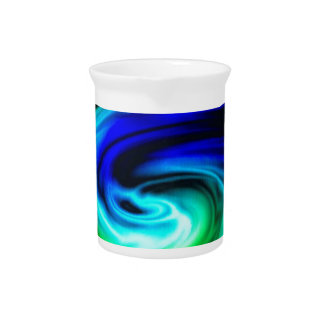 color swirl pattern pitcher