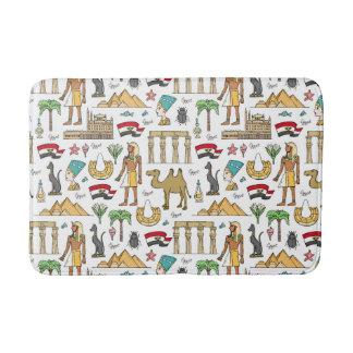 Color Symbols of Egypt Pattern Bath Mats
