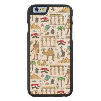 Color Symbols of Egypt Pattern Carved® Maple iPhone 6 Case