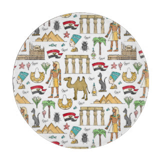 Color Symbols of Egypt Pattern Cutting Board