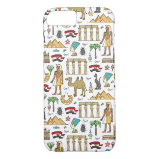 Color Symbols of Egypt Pattern iPhone 8/7 Case