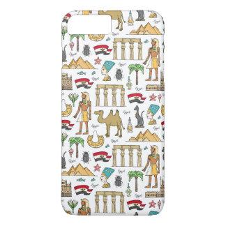 Color Symbols of Egypt Pattern iPhone 8 Plus/7 Plus Case