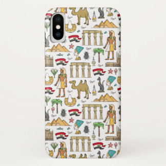 Color Symbols of Egypt Pattern iPhone X Case