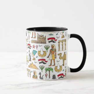 Color Symbols of Egypt Pattern Mug