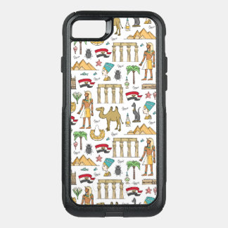 Color Symbols of Egypt Pattern OtterBox Commuter iPhone 8/7 Case