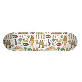 Color Symbols of Egypt Pattern Skateboard Deck