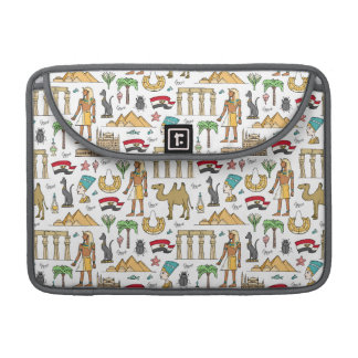 Color Symbols of Egypt Pattern Sleeve For MacBooks