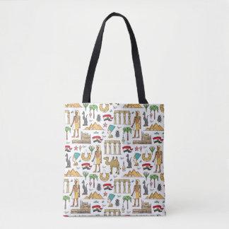 Color Symbols of Egypt Pattern Tote Bag