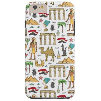 Color Symbols of Egypt Pattern Tough iPhone 6 Plus Case