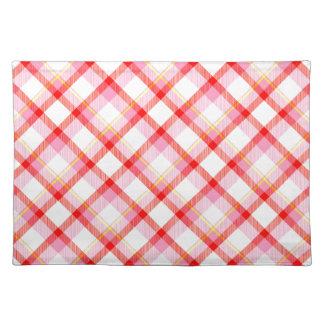 Color tartan texture placemat