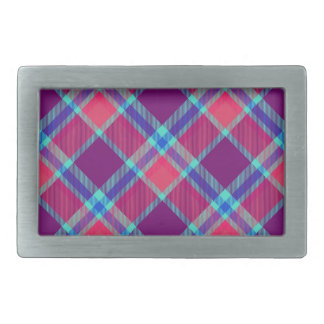 Color tartan texture rectangular belt buckle