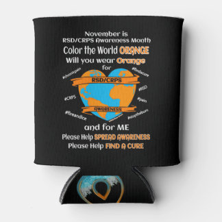 Color the World Orange...RSD/CRPS Can Cooler