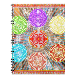 Color Therapy Graphics : Healing Energy Chakra Spiral Note Book