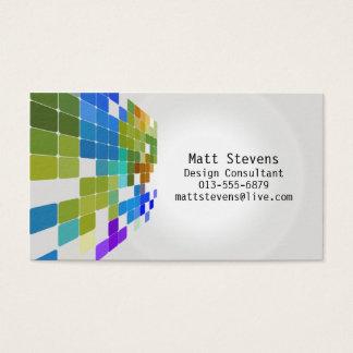 Color Tile Grid Green Blue Business Card