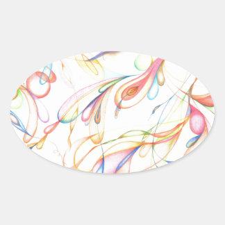 Color Transparency Laptop Bag Oval Sticker