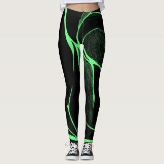 Color Twist (Green/Black) Leggings